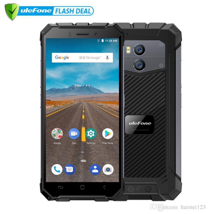 the latest 5577d 518fc Ulefone Armor X IP68 Waterproof Mobile Phone Android 8.1 5.5 HD Quad Core  2GB 16GB NFC Face ID Wireless Charge Smartphone
