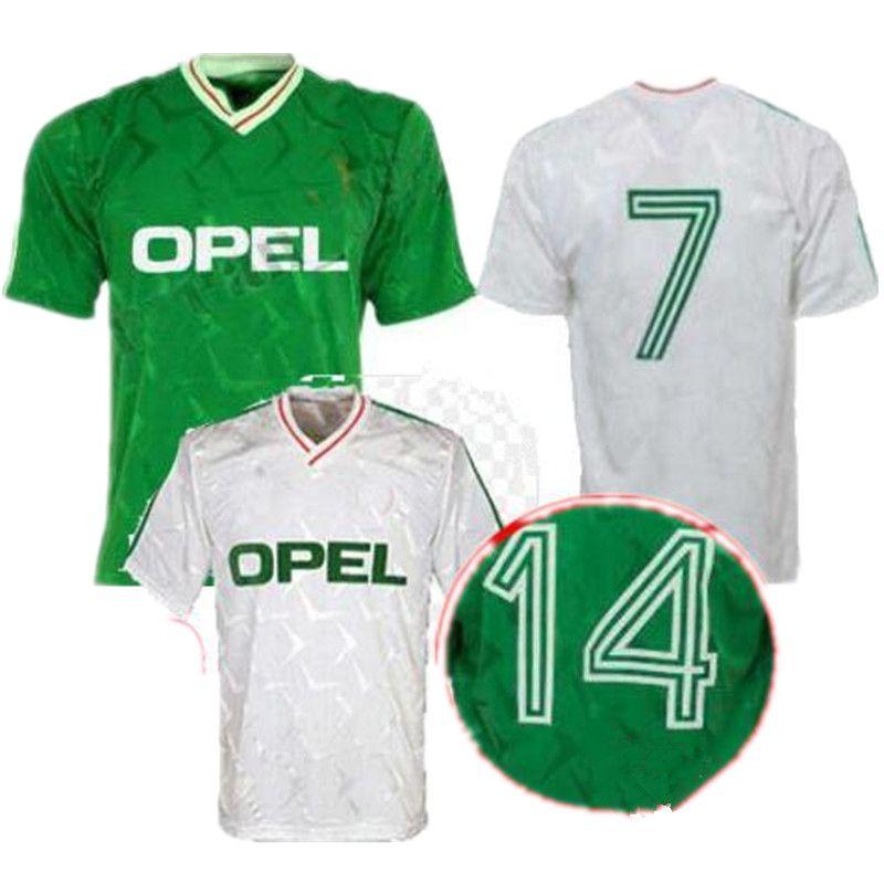 c8c3dbcf972f 2019 1990 Ireland Retro Soccer Jersey 1990 World Cup Ireland Home Green  Soccer Shirt National Team Customized Away White Football Uniforms Sales  From ...