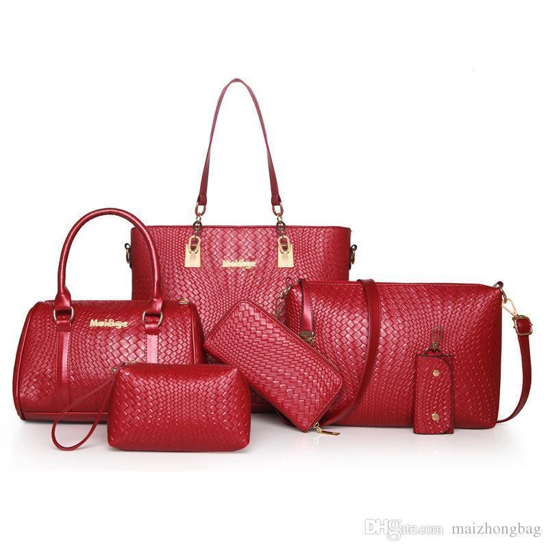 a0752ab9260 Nice Pop Euramerican Fashion Shoulder Bags For Women Messenger Bags Totes  Purse Key Bag Handbags Brands Names 6pcs Set Lash Package 1220#
