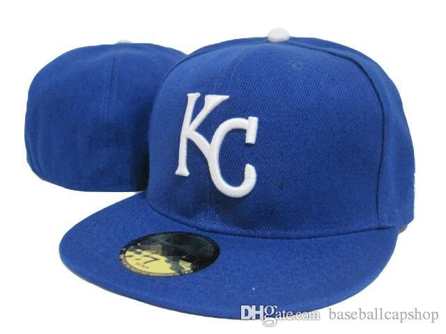 abf77bf5d20 Wholesale Royals Fitted Hats in Baseball Embroidered Team KC Letter ...