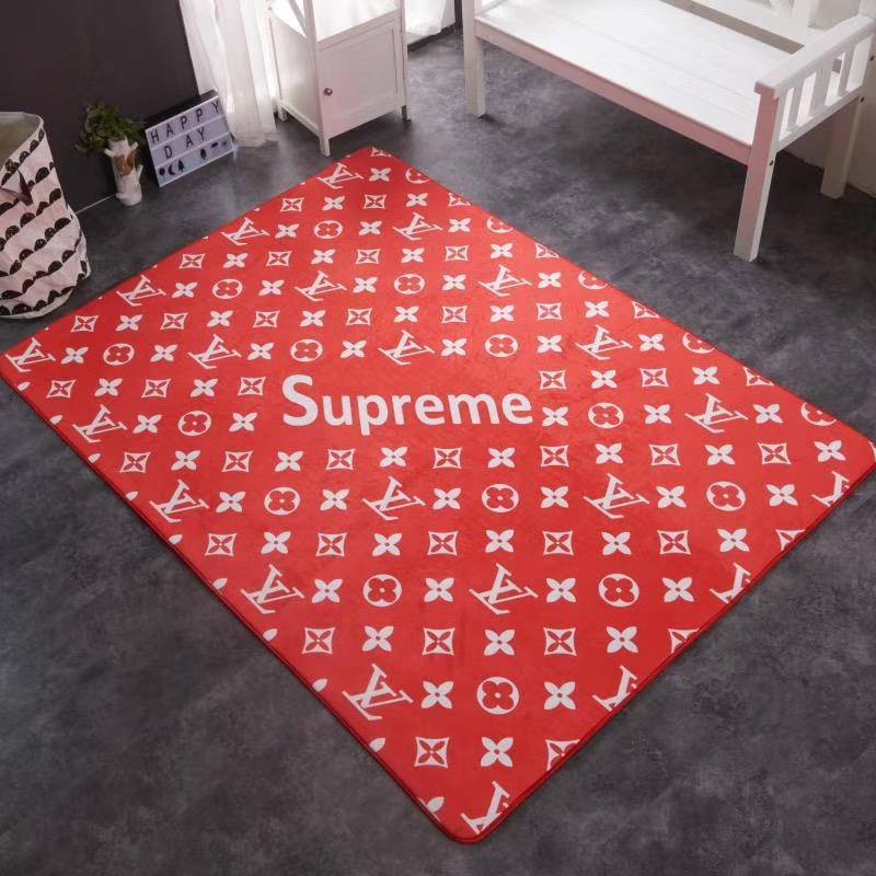 Red S Letter Rectangle Carpet Brand Design Top Grade Fashion Mats Kitchen Floor Bedroom Print Sofa Side Cushion