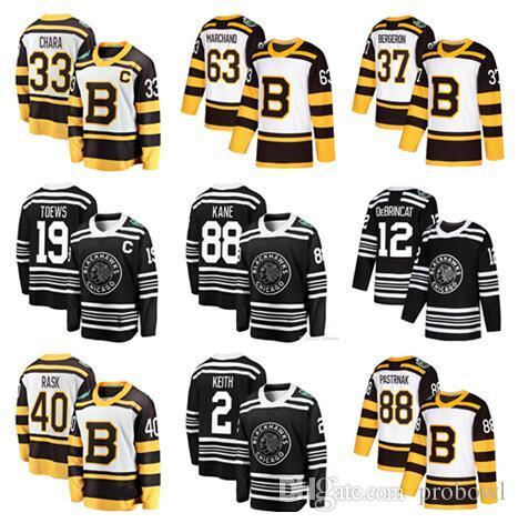 best website 6c10a 0cf60 2019 Winter Classic Jersey Chicago Blackhawks Boston Bruins Toews DeBrincat  Patrick Kane Seabrook Crawford Pastrnak Bergeron hockey Jerseys