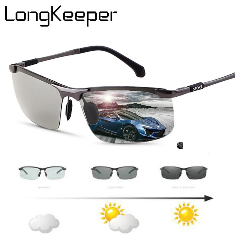 058cb3cf58e9 Photochromic Sunglasses Men Polarized Lens Ultra-Light Rimless Frame  Driving Goggles For Male TOP Quality Lentes De Sol Mujer Sunglasses Cheap  Sunglasses ...