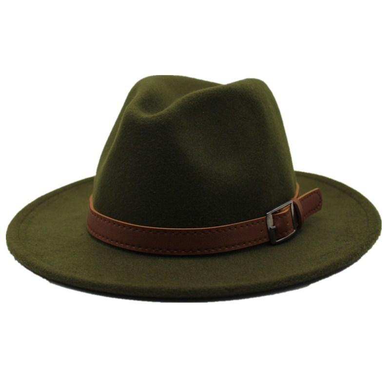 96e4e928a837a7 Seioum Special Felt Hat Men Fedora Hats With Belt Women Vintage Trilby Caps  Wool Fedora Warm Jazz Hat Chapeau Femme Feutre D19011102 Knit Hats Bailey  Hats ...