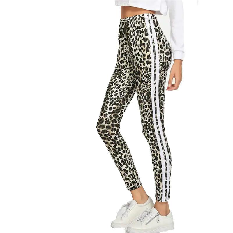e1c59ff9d2a 2019 ISHOWTIENDA Women Leggings 2019 Leopard Print Sexy Leggings Women  Casual Middle Waist Workout Femme Black From Qingchung