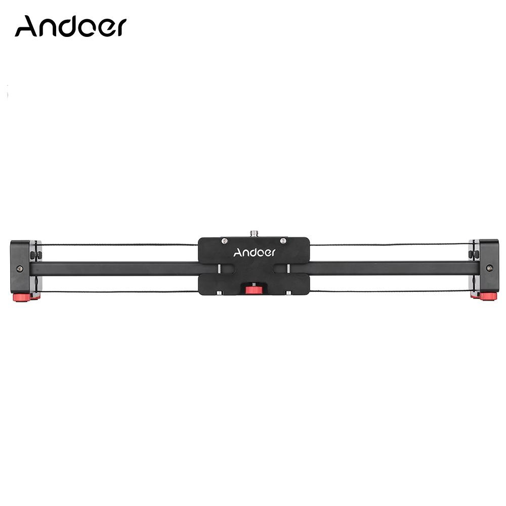 V2-500 Compact Retractable Track Dolly Slider 50cm Rail Shooting Video Stabilizer for Camcorders DSLR SLR Cameras and DVs