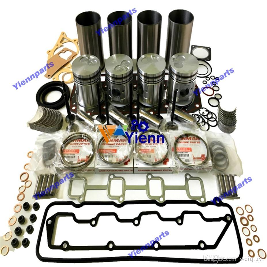 4TNE98T 4TNE98 overhaul rebuild kit with piston+ring+liner+gasket set+bearing+valve fit for Yanmar 4TNE98 diesel engine parts repair