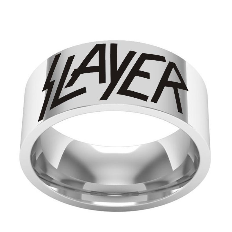 Men's Personality Stainless Steel Silver Letter Ring Party Ring Punk Jewelry