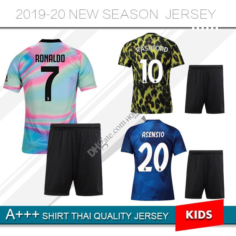 Compre Novo 2019 Real Madrid Edição Limitada De Futebol Jersey Terno 19 20  Juventuseses Camisa De Futebol Kit De Crianças   9 LUKAKU Man United Camisa  De ... d4fe0dde4ad42