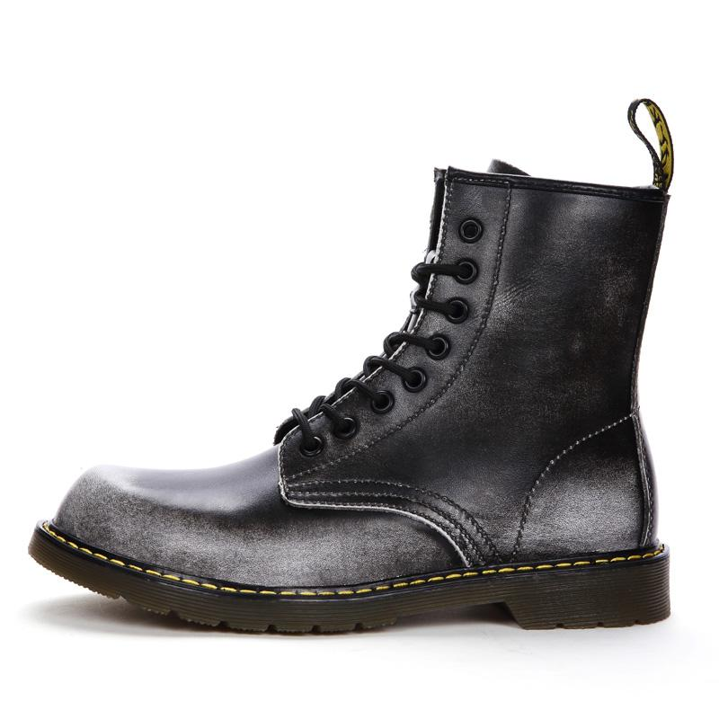 584ed2f2318c Dr Martins Women Boots High Top Genuine Leather Boots Shoes Motorcycle Women  Men Platform Work Winter Snow Shoe Sale Pumps Shoes From Crystalcle