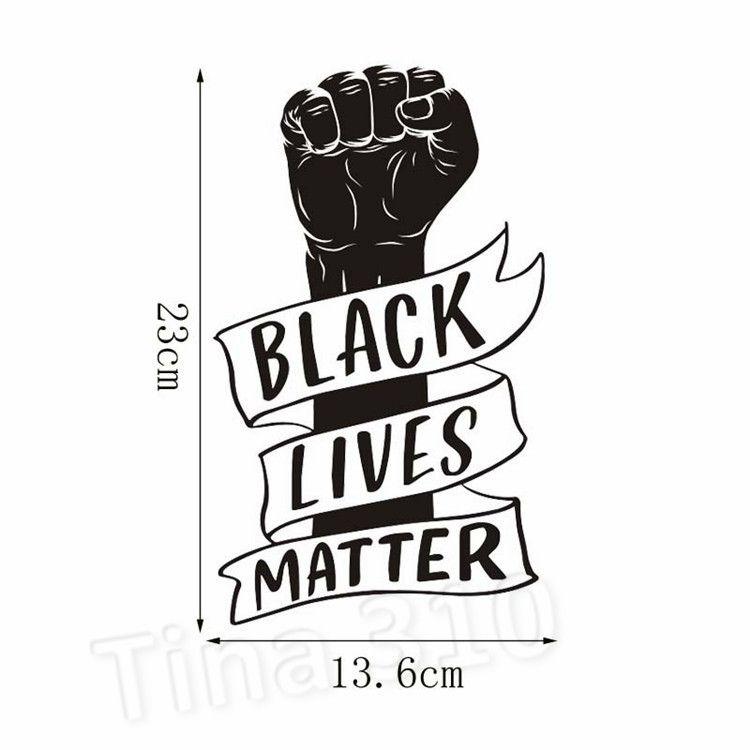 Creative fist Sticker self-adhesive Black lives matter car sticker PVC sticker everyone matter Decorative Stickers T2I51089