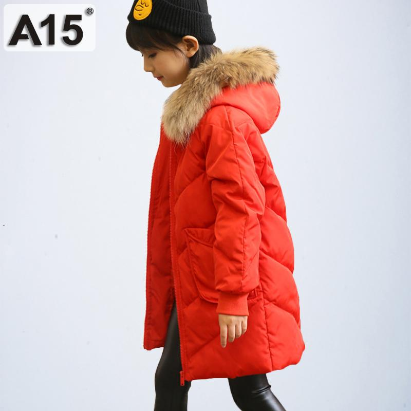 8cee70713 A15 2019 Girls Winter Coats Hooded With Fur Toddler Clothes Park Size 4 6 8 Children  Jackets For Girls Kids Outerwear 10 12 Year Cheap Boys Winter Coats ...