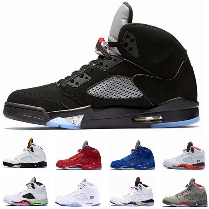 Acquista 2019 Economici 5 5s Scarpe Da Basket Sneakers Uomo Donna Uomo  Rosso Camoscio Ali Og Bcfc Volo Orande Olimpico Uva Oregon Anatre Scarpe  Firmate A ... 7ae0a594c3e