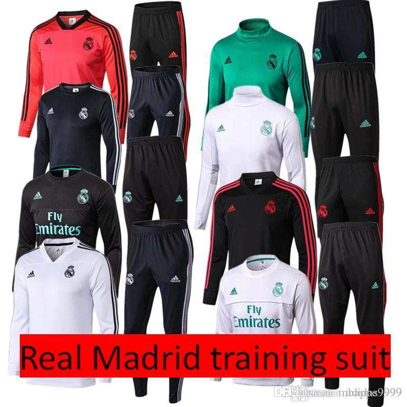 67426e491 Thai Version Quality 2018 New Real Madrid Training Suit 18 19 Soccer ...