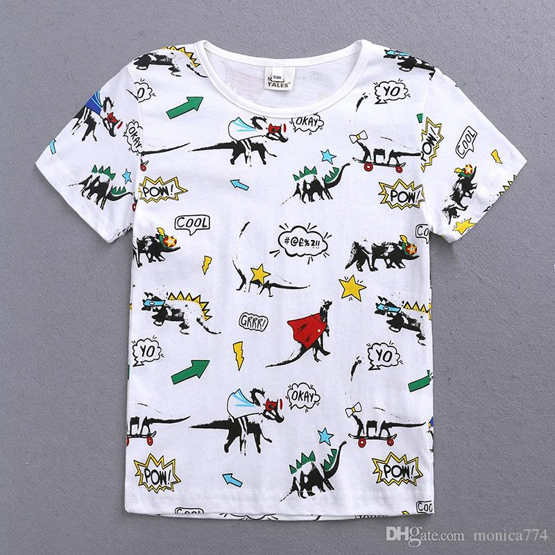 b28b146c16 INS HOT SALE Kids Cotton Print T Shirts Summer Style Short Sleeve ...