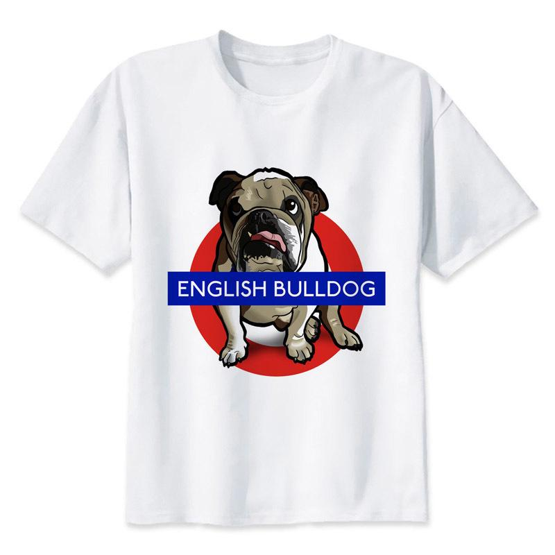 English Bull Terrier T Shirt Men Cartoon 2019 Cool Funny White Tshirt Print T-shirt Men Tees Mrr137