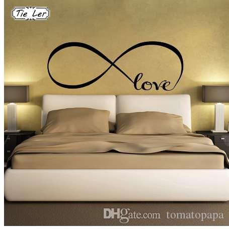 TIE LER Adesivi murali camera da letto Decor Infinity Symbol Parola Love  Vinyl Art Wall Sticker Decalcomanie Decorazione