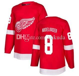 Men s Detroit Red Wings  8 Abdelkader Red Home Stitched Jersey 0eabec844