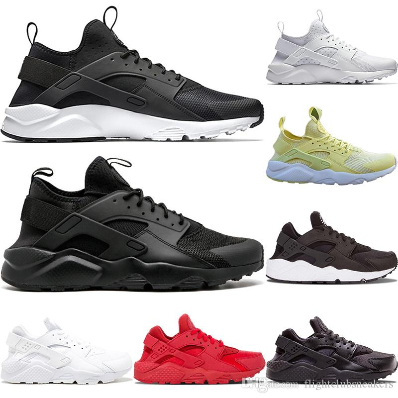 bd13bccfbe0a 2019 Huarache Running Shoes 1.0 4.0 Mens Women Triple White Black Red Grey  Rose Gold Yellow Trainers Huaraches Sports Sneakers 36 45 Sale Shoes Men  Shoes ...