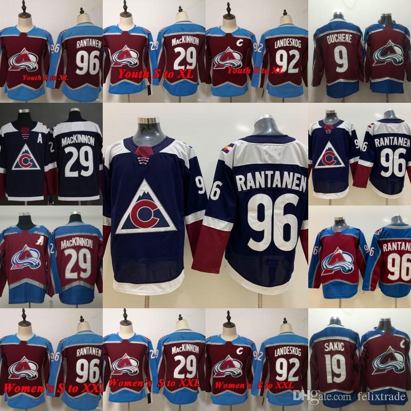 a78c3d0c2 Mikko Rantanen Nathan MacKinnon Colorado Avalanche Jersey Alternate Third  3rd Matt Duchene Joe Sakic Gabriel Landeskog Hockey Jerseys Canada 2019  From ...