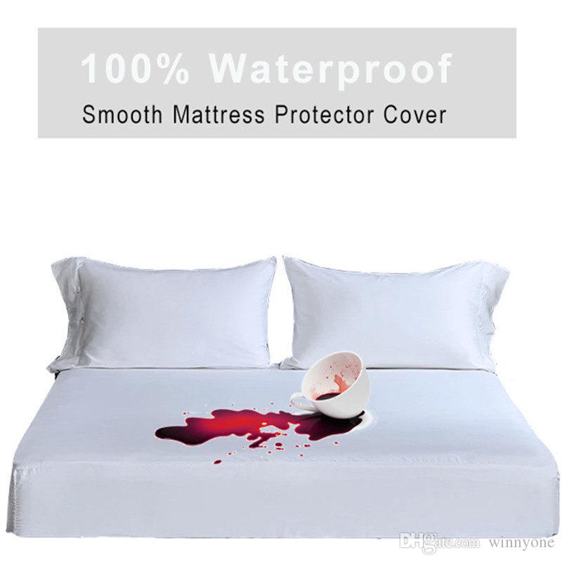 King Size 76x80x18 Inches Smooth Waterproof Mattress Cover Mattress