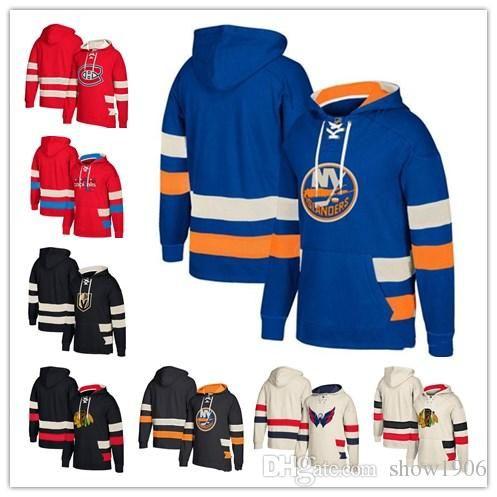 2019 Custom Hockey Hoodie Pullover Chicago Blackhawks Vegas Golden Knights  Washington Capitals Montreal Canadiens New York Islanders Top Quality From  ... 1420e1c99