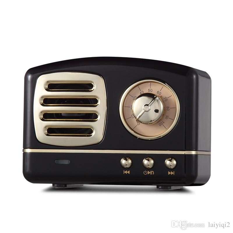 2019 popular metal texture FM radio portable pocket enceinte bluetooth vintage retro radio mini Nostalgic lautsprecher usb speakers gift BT