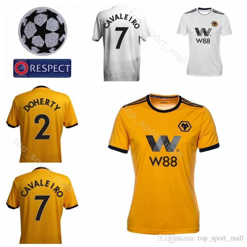 8a27182d3 2019 18 19 Wolverhampton Wanderers Soccer 9 Raul Jimenez Jersey 7 Ivan  Cavaleiro 2 Matt Doherty 11 Rui Patricio Goalkeeper Football Shirt Kiits  From ...