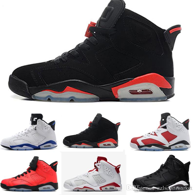 225f1a20a7bcef 2019 2019 Men Black Infrared 6 6s Basketball Shoes Mens CNY Carmine Gatorade  Green Tinker UNC Black Cat Designer Trainers Sneakers US 7 13 From ...