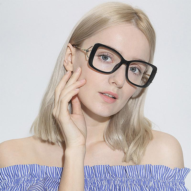 61622466f8 2019 Women Metal Legs Designer Optical Eyeglasses Prescription Acetate Rim  Spectacles For Big Rim Glasses Frame Fashion Styles 97532 From Nectarine99