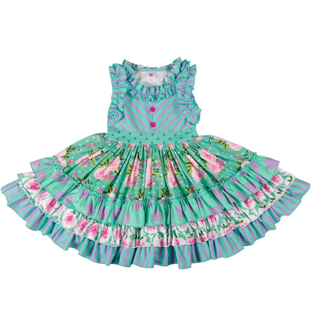 Großhandelsbaby-Sommer-Mädchen-Kleid ohne Stirnband-Prinzessin Party Clothing Beautiful Remake Dress Lyq803-080 MX190730