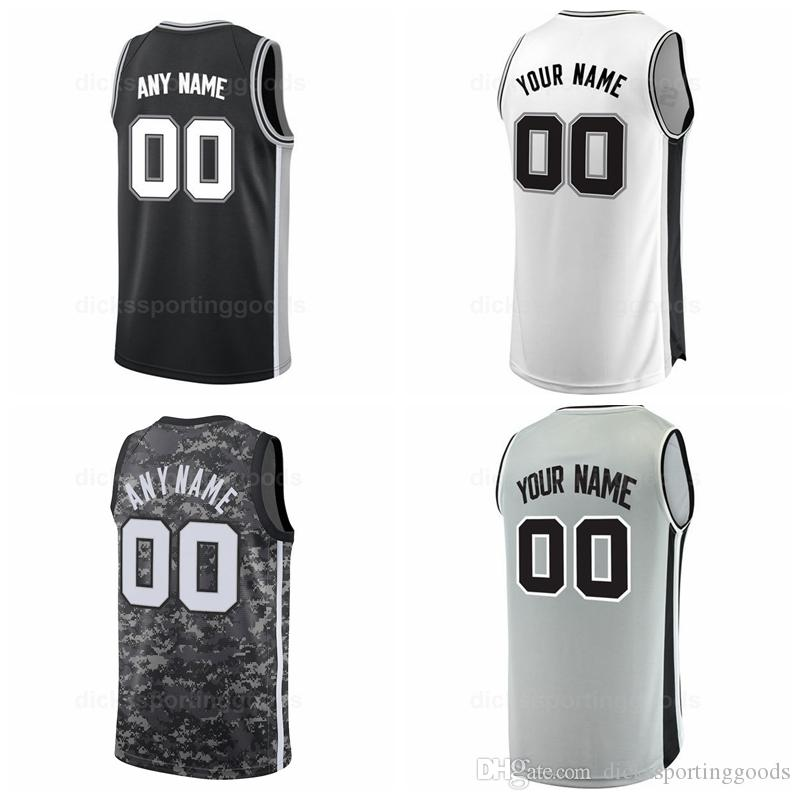 half off 87ea3 2fe23 College Printed Men Basketball 9 Tony Parker Jersey 20 Manu Ginobili 21 Tim  Duncan 12 Bruce Bowen 50 David Robinson Black White Grey