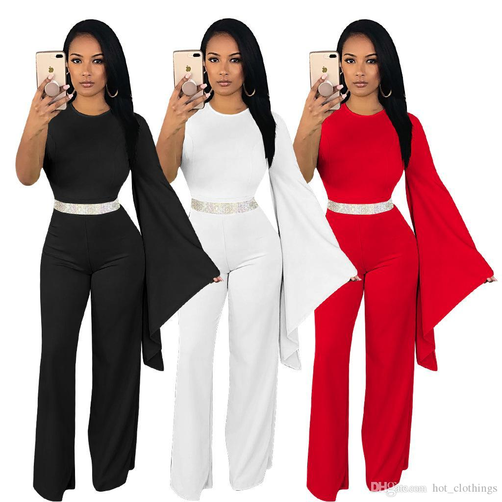 a5d2d1ca76f9 Women Solid Color Jumpsuit Clubwear One Shoulder Playsuit Bodycon ...