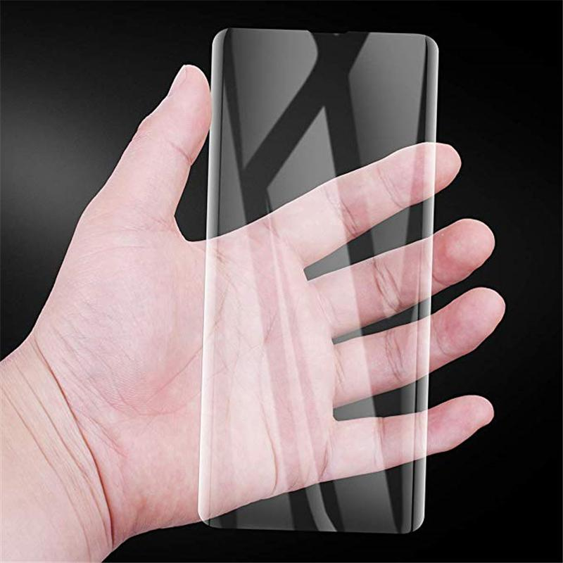Full Adhesive Case Friendly 3D Curved Screen Protector Tempered Glass With UV Light For Samsung S21 S20 Ultra S10 S9 Plus S8 Note 20 10 9 8 And Retail Package