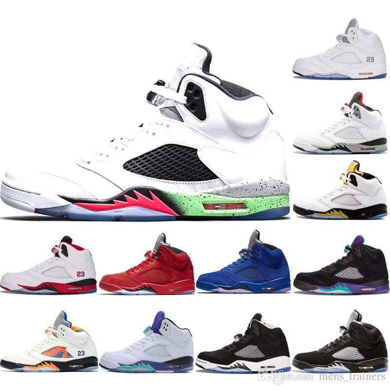 d9ca6cd98605 5 5s Space Jam International Flight Mens Basketball Shoes 2019 ...