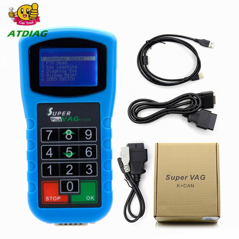 Super VAG K+CAN Plus 2.0 Diagnosis + Mileage Correction + Pin Code Reader Super VAG K CAN 2.0 Key Programmer, Airbag Reset Tool