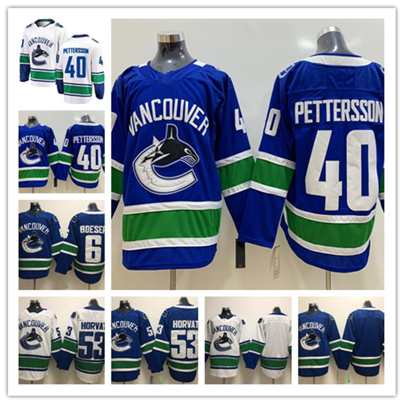 2019 Mens Vancouver Canucks  40 Elias Pettersson Hockey Jersey ... ee4e20ee4