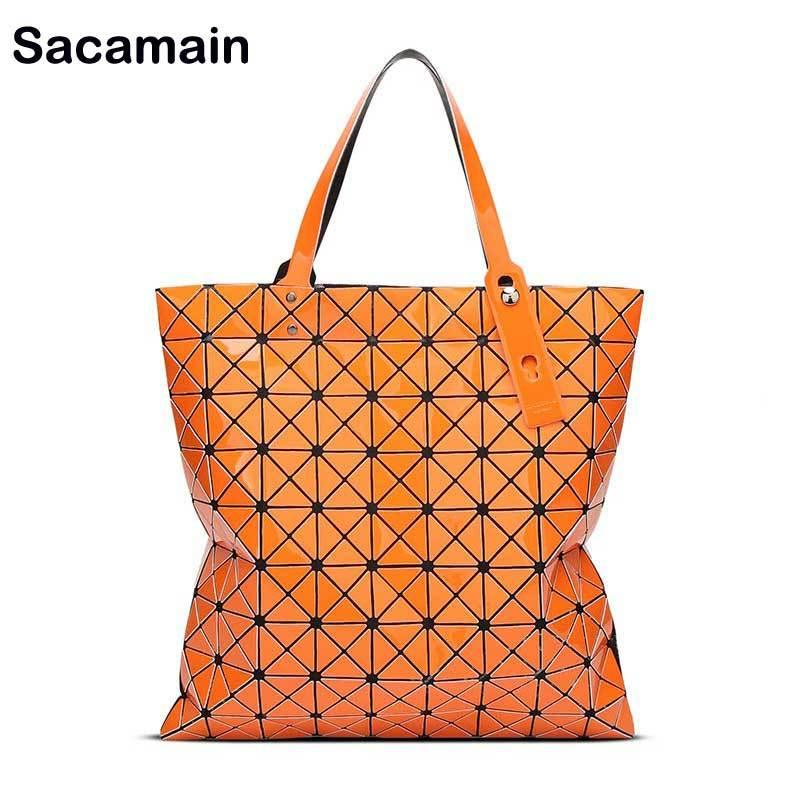 bdd6b4fce971 2019 Fashion Famous Japan Bao Style Designer Women Bag Folding Diamond  Lattice Tote Geometry Quilted Handbags Top Handle Bags With Zipper Mens  Leather Bags ...