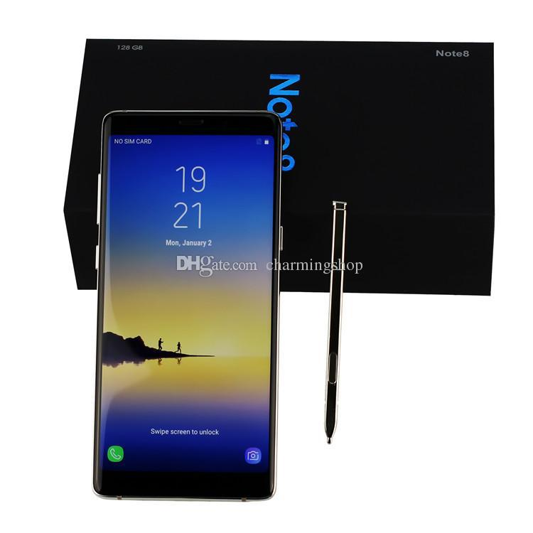 Goophone note8 android 6.3 smartphone 6.3 zoll hd 64bit mtk6580 quad core handys 1 gb hinweis 8 uhr 8 gb rom show gefälschte 4 g lte 64 gb dhl