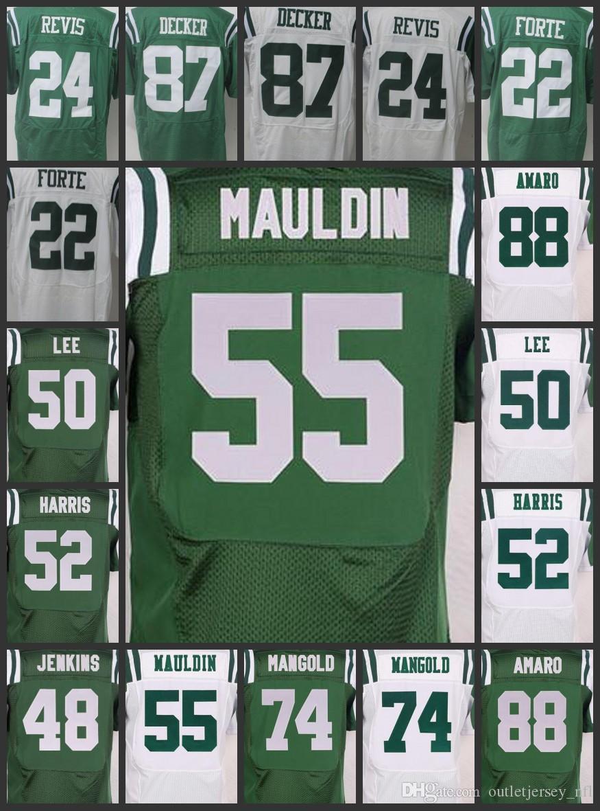best sneakers 8ef7e 6e2c4 New York Jets Men Women Youth Jersey #55 Lorenzo Mauldin 22 Matt Forte 48  Jenkins 87 Eric Decker 74 Nick Mangold Embroidery Jerseys