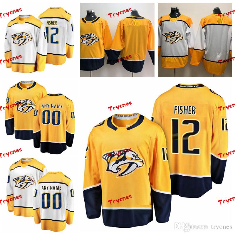 2019 2019 Customize Mike Fisher Nashville Predators Stitched Jerseys Custom Home  Gold Shirts  12 Mike Fisher Hockey Jerseys S XXXL From Tryones 0cec2e300