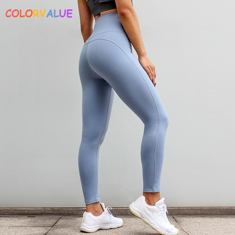 178ddb21bd200 value High Waisted Running Sport Leggings Women Plain Push Up Fitness  Workout Tights Quick Dry Tummy Control Gym Yoga Pants C19041701 From  Linmei0006, ...