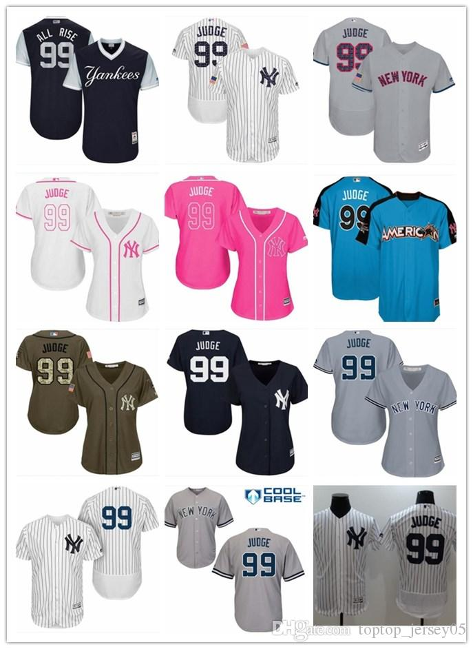 the latest 5c571 4d840 2018 top New York Yankees Jerseys #99 Aaron Judge Jerseys  men#WOMEN#YOUTH#Men s Baseball Jersey Majestic Stitched Professional  sportswear