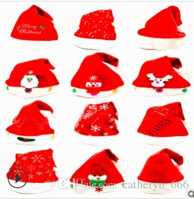Christmas Hats For Kids.Christmas Hat For Kids Adults Santa Hat Xmas Hat Non Woven Fabric New Year Merry Christmas Hats For Celebrations Snowman Reindeer Accessorie