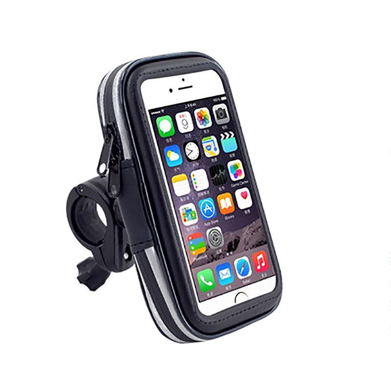 f2b8060a09b6 Cycling Bike Motorcycle Waterproof Bag Mobile Cell Phone Stand Holder Pouch  Pack For Smartphone iPhone 6/6s Plus New