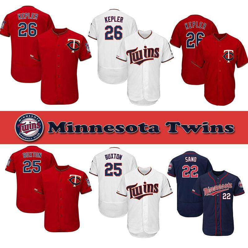 959bf3ab63d 2019 Custom Minnesota Mens Jersey Twins Max Kepler Byron Buxton ...