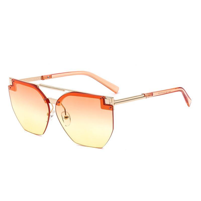 717d5e8637 Compre 2019 Nuevas Gafas De Sol Semi Sin Montura Marca De Moda De Moda  Gradiente De Gafas Gafas De Protección UV De Alta Calidad Gafas De  Diseñador Retro ...