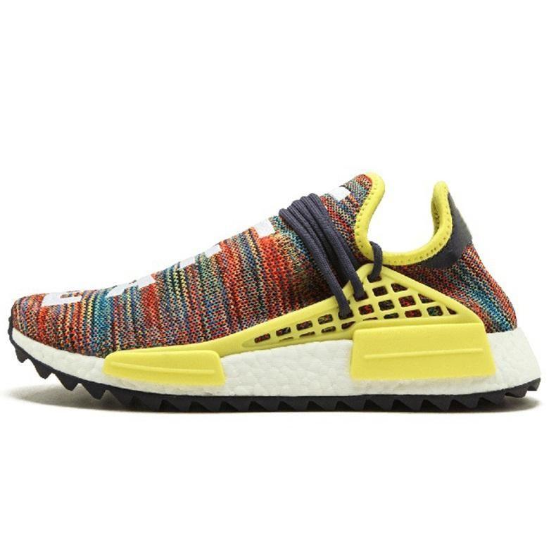 new style ed5f2 52035 Human Race Shoes Pharrell Williams Hu trail Oreo Nobel ink Black Nerd  Designer Sneakers Men Women Sport Shoes Wholwsale 1A 06