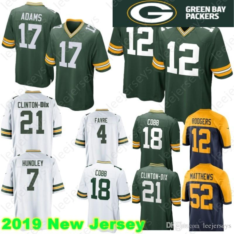 eca5261d7 12 Aaron Rodgers Green 17 Davante Adams Bays 52 Matthews Packers ...