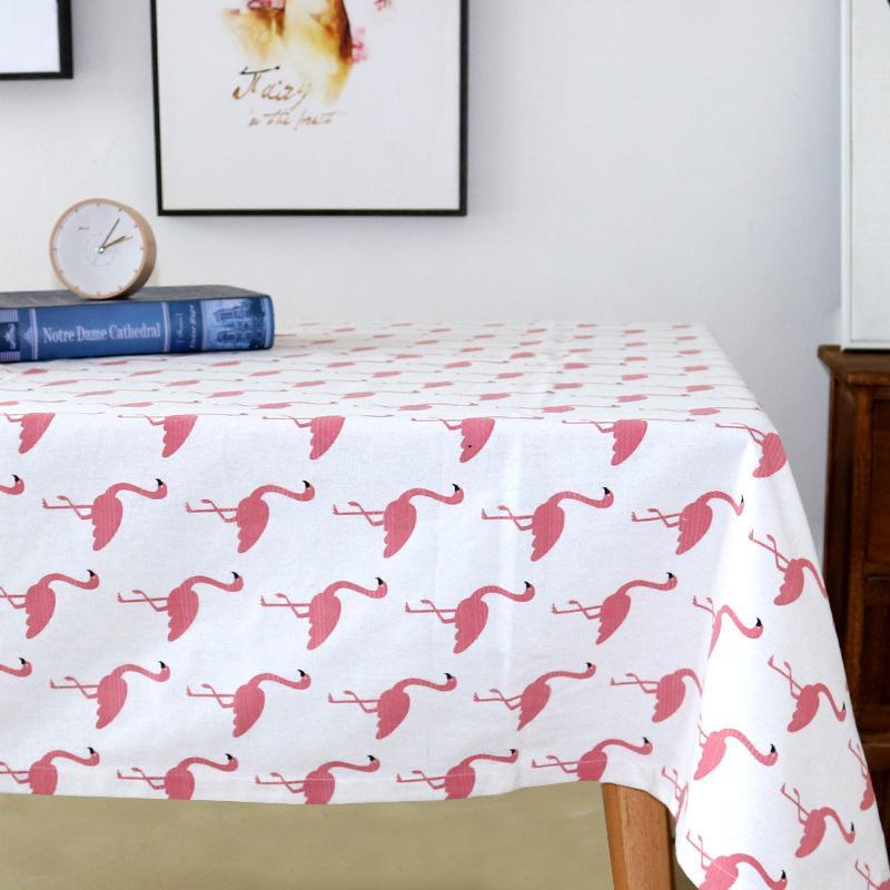 Grosshandel Nordische Baumwolle Flamingo Tischdecke Moderne Kleine